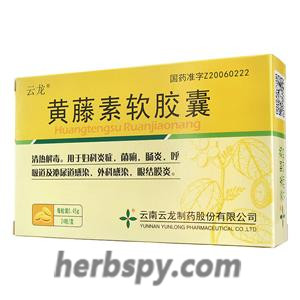 Huangtengsu Ruanjiaonang for gynecological inflammation or bacillary dysentery or conjunctivitis