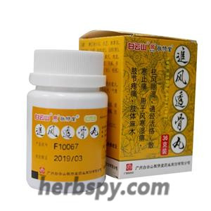 Zhuifeng Tougu Wan for arthralgia with limbs pain or nerve paralysis